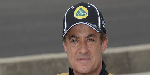 Jean Alesi qualified for the Indianapolis 500 for Lotus in 2012.