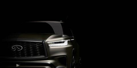 Infiniti teased a blocky version of an SUV on Monday.