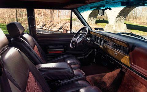 The Grand Wagoneer's inviting interior.