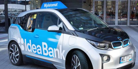 A small fleet of BMW i3s have been turned into roving ATMs that can be summoned via smartphone.