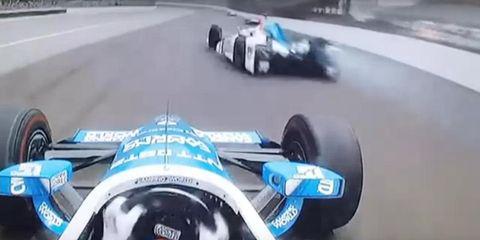 Jay Howard, Scott Dixon crashed during the Indy 500 Sunday.