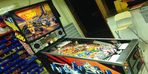 Bally's created and released an Indy 500 pinball machine in 1995.
