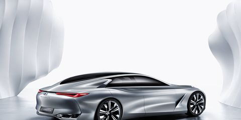 """Infiniti assures us that the Q80 Inspiration """"really makes a statement."""" We'll see about that when we get a good look at it on Oct. 2."""