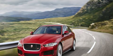 Jaguar XE in European specs.