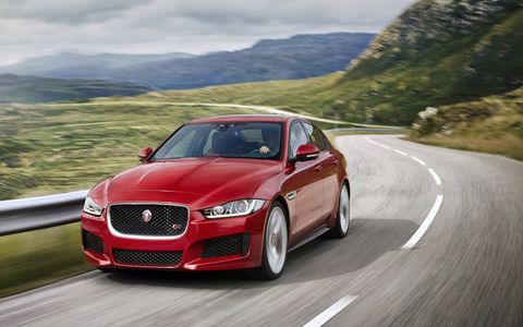 Jaguar XE in European specs.