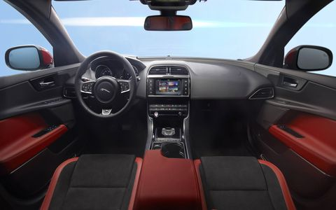 The eight-inch touch screen is the heart of the XE's infotainment system.