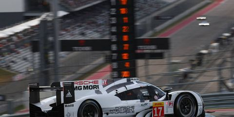 The No. 17 Porsche 919 Hybrid of Timo Bernhard, Mark Webber and Brendon Hartley scored the win at Austin.