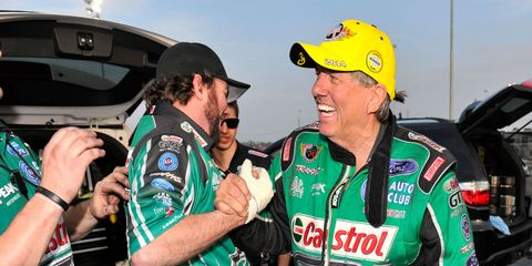 John Force is never at a loss for enthusiasm for the NHRA or the sport of drag racing.