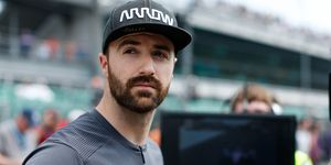 Despite not making the field for the Indy 500 on Saturday, James Hinchcliffe was at the track for qualifications Sunday.