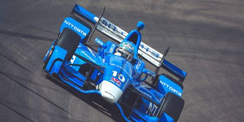 Tony Kanaan got his work in at Phoenix during the Friday-Saturday test session.