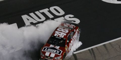 Jimmie Johnson, eliminated from Chase contention two races ago, won at Texas on Sunday.
