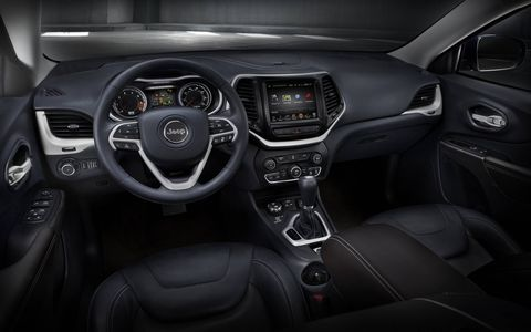 Jeep manages to hide countless brand Easter eggs around the interior of the 2014 Jeep Cherokee Trailhawk.