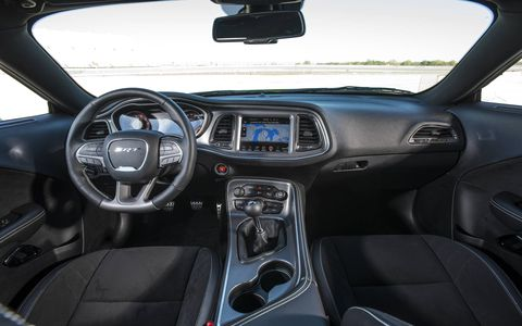 The refreshed interior of the 2015 Dodge Challenger SRT Hellcat is much more inviting.