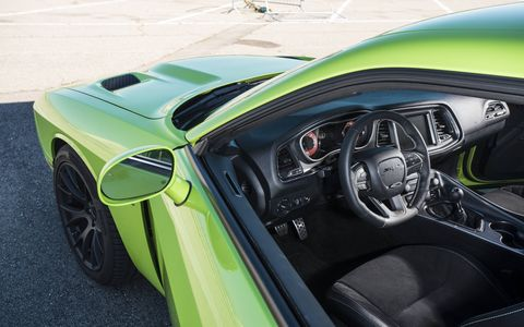 The interior of the 2015 Dodge Challenger SRT Hellcat has plenty of room to accommodate four adults comfortably.