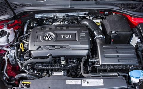 The 2015 Volkswagen Golf GTI S 4-Door is powered by a 2.0-liter turbocharged I4 backed with a six-speed maual gearbox.