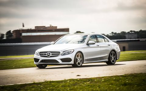 The 2015 Mercedes-Benz C400 4Matic Sedan is a an attractive luxury car.