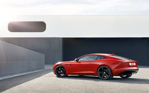 The 2015 Jaguar F-Type S Coupe has 339 lb-ft of torque to go along with 380 hp.
