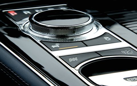 The 2015 Jaguar XJL Portfolio is equipped with a eight-speed automatic gearbox.