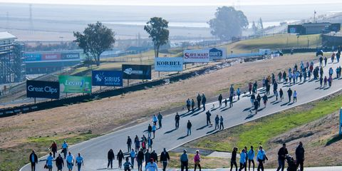 Participants at last year's John's March Against Stomach Cancer at Sonoma Raceway.