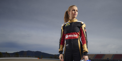Carmen Jorda is taking heat from fellow drivers after she was signed to be a developmental driver with Lotus.