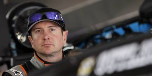 NASCAR driver Kurt Busch's ex-girlfriend allegedly claimed to be a trained assassin for the U.S. government.