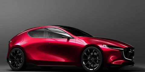 The Mazda Kai was unveiled at the Tokyo Motor Show.