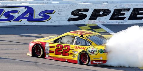Joey Logano continued his march into the third round of the Chase with his win on Sunday at Kansas.