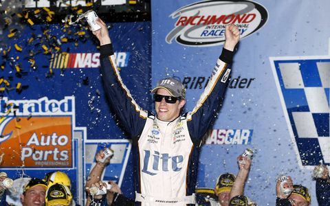 Brad Keselowski has been to victory lane in the NASCAR Sprint Cup Series a total of four times in 2014.