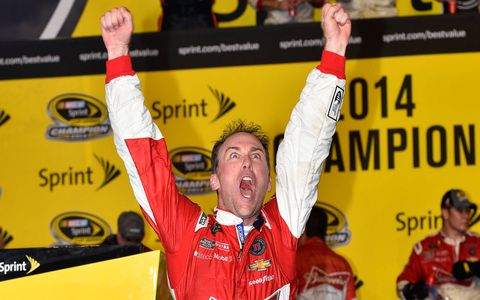 Kevin Harvick captured his first NASCAR Sprint Cup championship on Sunday in Florida.