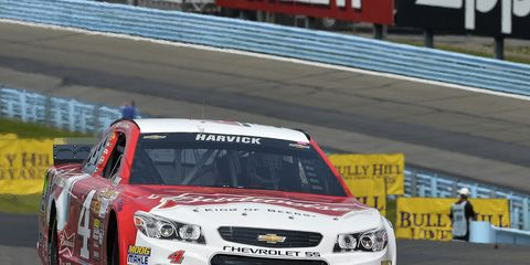 NASCAR Sprint Cup Series driver Kevin Harvick in the No. 4 Chevrolet SS at Watkins Glen International over the weekend.