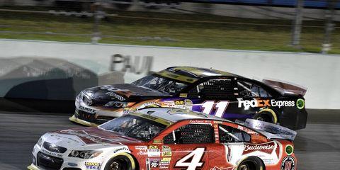 Kevin Harvick (4) won the NASCAR championship in 2014.
