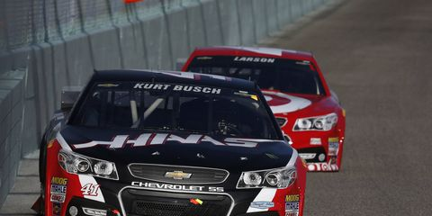 Kurt Busch finished 12th in the NASCAR Sprint Cup Series for standings for Stewart-Haas Racing.