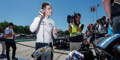 Josef Newgarden was 15th quickest in practice on Friday at Road America.