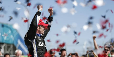 Pagenaud won the Long Beach race, the first of three wins in succession.