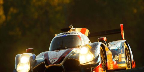 The No. 60 Michael Shank Racing Honda-powered Ligier JS P2 won Petit Le Mans from the pole on Saturday at Road Atlanta.