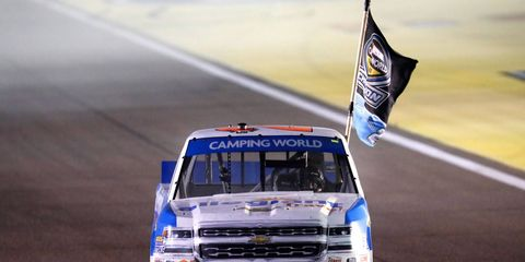Johnny Sauter captured his first NASCAR Camping World Truck Series championship on Friday night.
