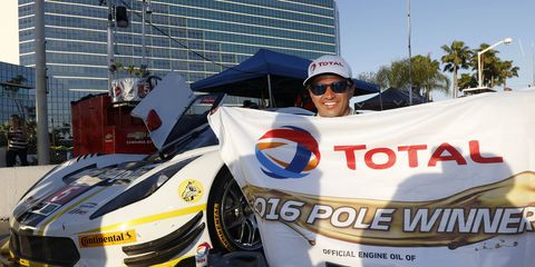 Christian Fittipaldi won the Prototype pole for this weekend's IMSA WeatherTech SportsCar Championship race in Long Beach.