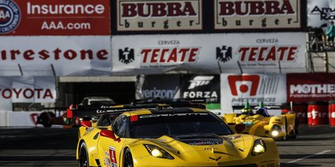 Corvette Racing, shown, hopes to get back into victory lane this weekend at Laguna Seca.