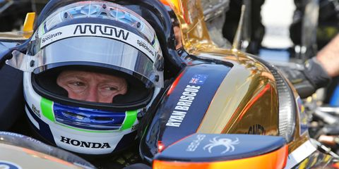 IndyCar driver Ryan Briscoe was recently announced as James Hinchcliffe's full-time replacement for the remainder of the 2015 season.