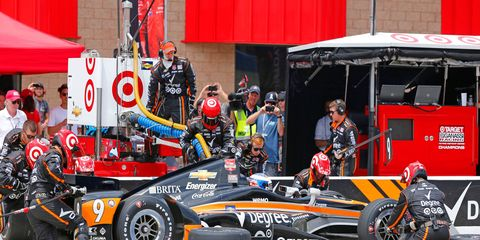 Scott Dixon and his crew are hoping to bring home IndyCar win No. 100 for team owner Chip Ganassi on Sunday in Milwaukee.