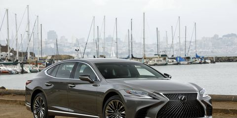 """The 2018 Lexus LS luxury sedan offers only a V6 but at 416 hp it's stronger than the old V8. There is also a V6 hybrid. The car rides on the almost all-new GA-L platform, shared with the shorter, sportier LC. Lexus promises a """"new level of flagship luxury in every aspect."""" Look for it in showrooms starting in February with prices starting at $75,000."""