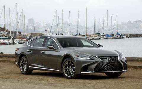 "The 2018 Lexus LS luxury sedan offers only a V6 but at 416 hp it's stronger than the old V8. There is also a V6 hybrid. The car rides on the almost all-new GA-L platform, shared with the shorter, sportier LC. Lexus promises a ""new level of flagship luxury in every aspect."" Look for it in showrooms starting in February with prices starting at $75,000."