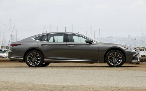 Lexus calls it a coupe-like silhouette.