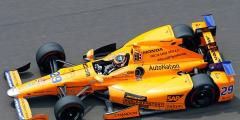 Fernando Alonso drove an entry with support from McLaren and Andretti Autosport at this year's Indy 500.