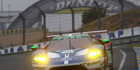 The Ford Chip Ganassi Racing squad placed three of its cars in the top four in the LMGTE Pro class at the 24 Hours of Le Mans.
