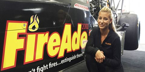 Leah Pritchett heads to the Four-Wide Nationals 10th in the NHRA Top Fuel Dragster points standings.