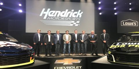 Chase Elliott, William Byron, Jimmie Johnson and Alex Bowman will pilot Hendrick Motorsport Chevrolet Camaros next season.