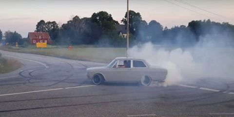 Jesper Johansson takes his 1970 Volvo 142 out for a shakedown cruise.