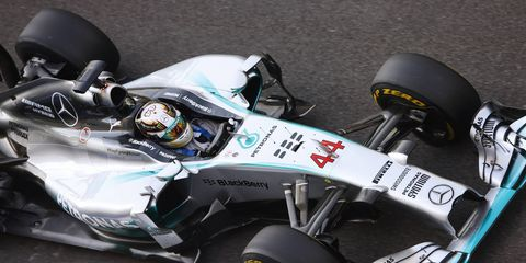 Lewis Hamiltonhas a 17-pioint lead in the Formula One championship over teammate Nico Rosberg.