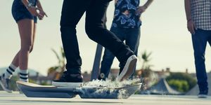 The Lexus hoverboard will work in this skate park in Barcelona.